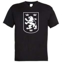 Мужская футболка  с V-образным вырезом Division Galician