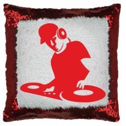 Подушка-хамелеон Dj Logo