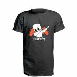 Удлиненная футболка Dj Marshmello fortnite dab - FatLine