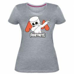 Женская стрейчевая футболка Dj Marshmello fortnite dab - FatLine