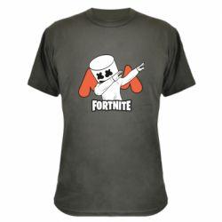 Камуфляжная футболка Dj Marshmello fortnite dab - FatLine