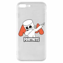 Чехол для iPhone 7 Plus Dj Marshmello fortnite dab - FatLine