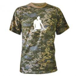 Камуфляжная футболка Dj за работой - FatLine