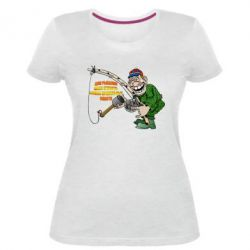 Жіноча стрейчева футболка Для риболовлі мало пристрасті - потрібні правильні снасті