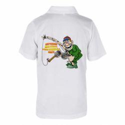 Дитяча футболка поло Для риболовлі мало пристрасті - потрібні правильні снасті