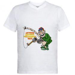 Чоловіча футболка з V-подібним вирізом Для риболовлі мало пристрасті - потрібні правильні снасті