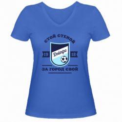 Жіноча футболка з V-подібним вирізом Дніпро