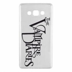 Чехол для Samsung A7 2015 Дневники Вампира Лого - FatLine