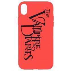 Чехол для iPhone XR Дневники Вампира Лого - FatLine