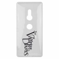 Чехол для Sony Xperia XZ2 Дневники Вампира Лого - FatLine