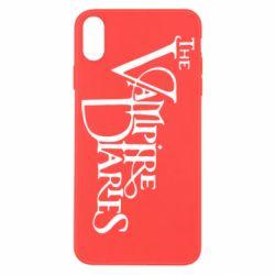 Чехол для iPhone X Дневники Вампира Лого - FatLine