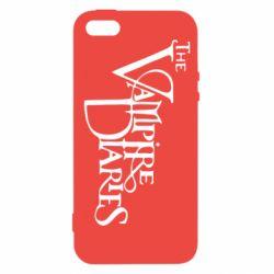 Чехол для iPhone5/5S/SE Дневники Вампира Лого - FatLine