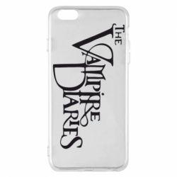 Чехол для iPhone 6 Plus/6S Plus Дневники Вампира Лого - FatLine
