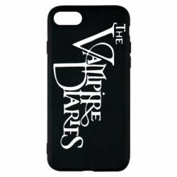 Чехол для iPhone 8 Дневники Вампира Лого - FatLine