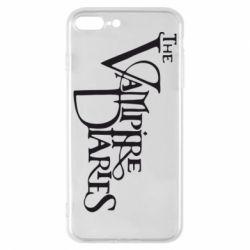 Чехол для iPhone 8 Plus Дневники Вампира Лого - FatLine