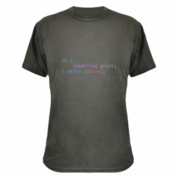 Камуфляжна футболка Do something great