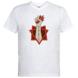 Мужская футболка  с V-образным вырезом Do what thou wilt