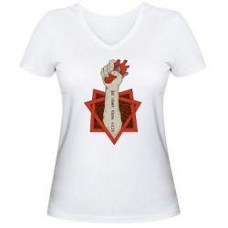 Женская футболка с V-образным вырезом Do what thou wilt - FatLine