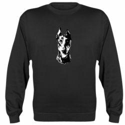 Реглан (свитшот) Доберман черный