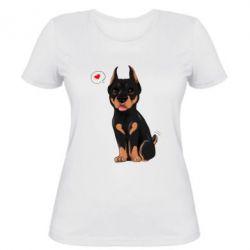 Женская футболка Doberman Puppy
