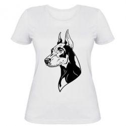 Женская футболка Doberman