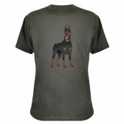 Камуфляжная футболка Доберман