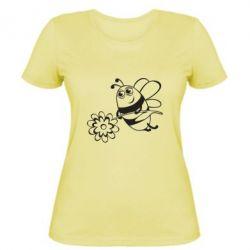 Женская футболка Добрая пчелка - FatLine