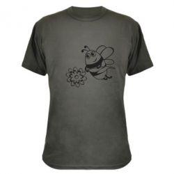 Камуфляжная футболка Добрая пчелка - FatLine