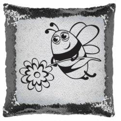 Подушка-хамелеон Добрая пчелка