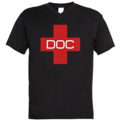 Чоловіча футболка з V-подібним вирізом DOC