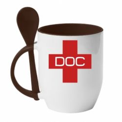 Кружка з керамічною ложкою DOC