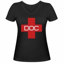 Жіноча футболка з V-подібним вирізом DOC