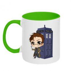 Кружка двоколірна 320ml Doctor who is 10 season2