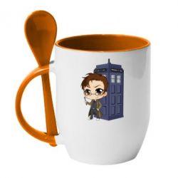 Кружка з керамічною ложкою Doctor who is 10 season2