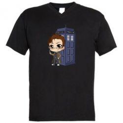 Чоловіча футболка з V-подібним вирізом Doctor who is 10 season2