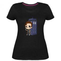 Жіноча стрейчева футболка Doctor who is 10 season2
