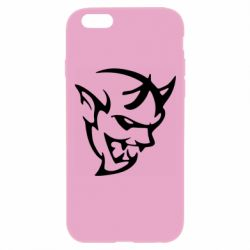 Чехол для iPhone 6 Plus/6S Plus Dodge demon logo