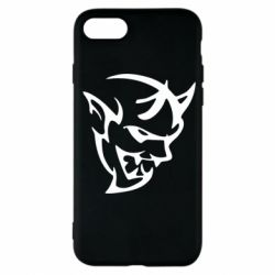 Чехол для iPhone 7 Dodge demon logo