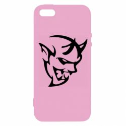 Чехол для iPhone5/5S/SE Dodge demon logo