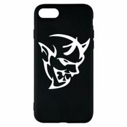 Чехол для iPhone 8 Dodge demon logo
