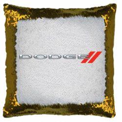 Подушка-хамелеон Dodge logo
