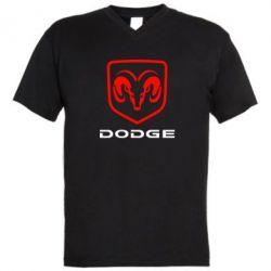 Мужская футболка  с V-образным вырезом DODGE - FatLine