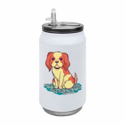Термобанка 350ml Dog and field with flowers