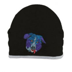 Шапка Dog in blue