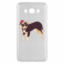 Чехол для Samsung J5 2016 Dog in christmas hat