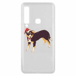 Чехол для Samsung A9 2018 Dog in christmas hat