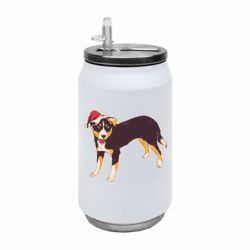 Термобанка 350ml Dog in christmas hat