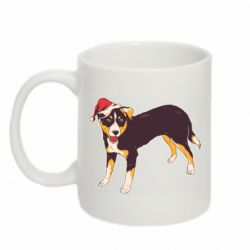 Кружка 320ml Dog in christmas hat