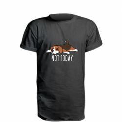 Удлиненная футболка Dog not today
