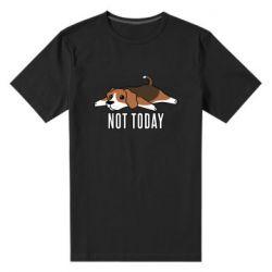 Мужская стрейчевая футболка Dog not today